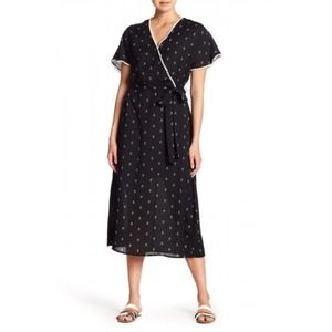 Pleione Printed Trim Detail Midi Dress Size Medium